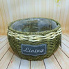 Natural seagrass rope woven flowerpot storage basket belly seagrass basket with plastic liner