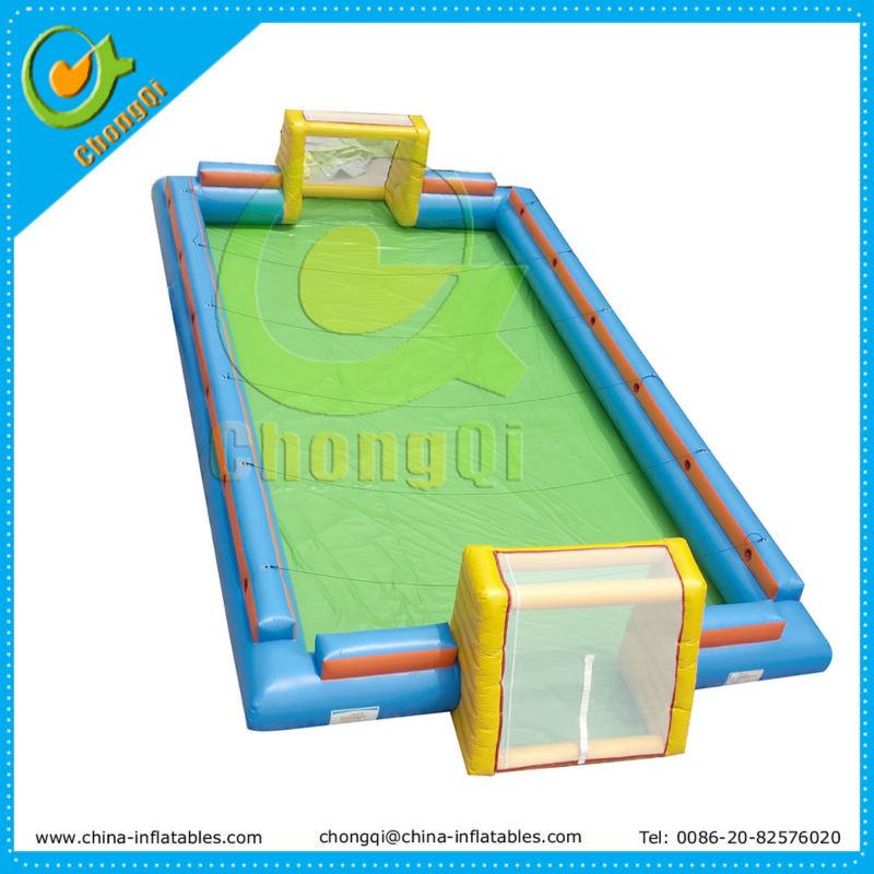 Hot sale inflatable water football pitch, inflatable water football game