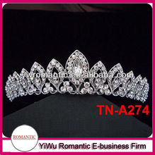 hot sale rhinestone tiaras crowns star pageant crowns