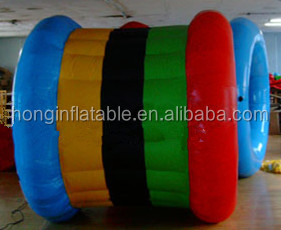 New design and durable 0.9mm PVC inflatable water wheel roller, inflatable rolling water ball, inflatable balls ride