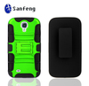 3 in 1Newest Green Hybird Combo Holster Case For Samsung s4 Plastic Mobile Phone Case with Kickstand And Belt Clip