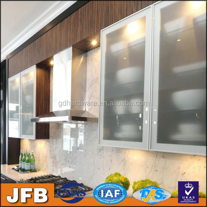 Kitchen Cabinets profiles polished aluminum furniture cheap glass door frame