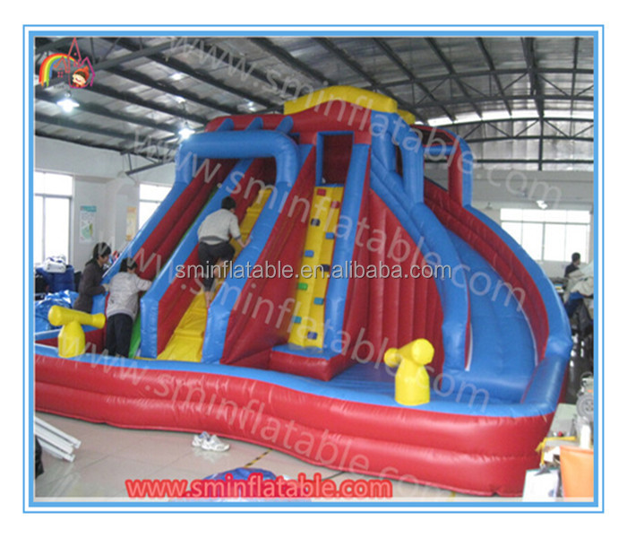 Factory price inflatable water <strong>slide</strong> for kids and adult,outdoor giant inflatable water <strong>slide</strong> with pool for sale