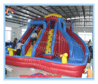 Factory price inflatable water slide for kids and adult,outdoor giant inflatable water slide with pool for sale