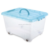 BA032 scrollable large storage box with handle plastic toy storage box