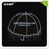 Custom Clear Rain With Umbrella Rhinestone Transfers For T Shirt Fashion Accessories