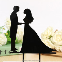 Sweet wedding acrylic cake topper for wedding decoration