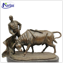 European large Bronze Spanish Fighting Bull Sculpture NT-BS034K