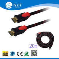 Enet best Factory High Speed HDMI Cable 1.4V 1080P 3D HDTV AM cables 20m