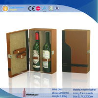 portable whiskey 2 packed leather wine case