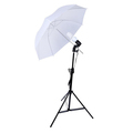 Photo Studio Lighting Kit 2M Light Stand 33' White Soft Light Umbrella