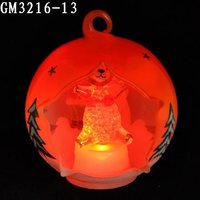 wholesale christmas tree decorations led semi-open glass ball witn rabbit inside
