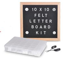Letter Board Black Felt Wood Magnetic Letter Board Home Decor