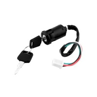 Ignition Key Switch Lock 4 Wires Bike ATV Quad Go Kart Motard Motor Moped Buggy Scooters for Yamaha for Kawasaki for Suzuki