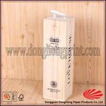Alibaba Manufacturer Custom Wood Case For Wine With Handle