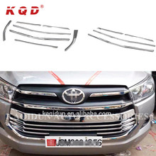 Auto Exterior Accessories Abs Plastic Grill Cover Trim 7pcs Chromed Car Front Grille for Toyota Innova 2016