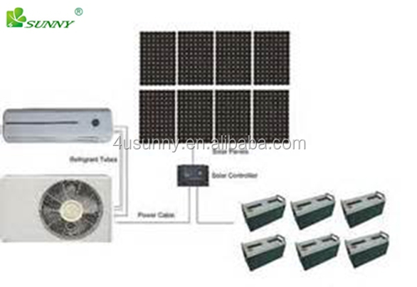 Split unit 100% Solar AC conditioning system Conditioner AC 18000BTU 1100W