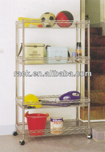 DIY 4 Tiers Adjustable Wall Wire Rack with Basket,NSF Approval