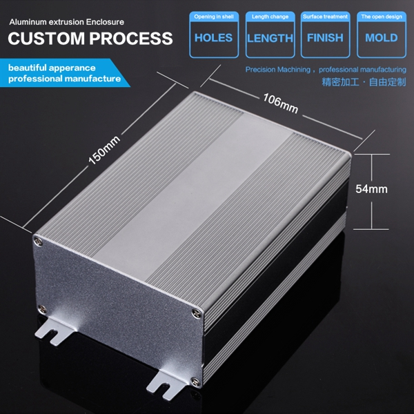 106*54-D mm Aluminum Enclosure Case DIY Electronic Wiring Project Box