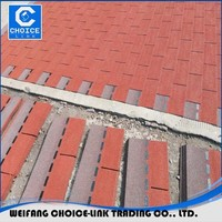 2.6MM Thickness red asphalt roofing shingles