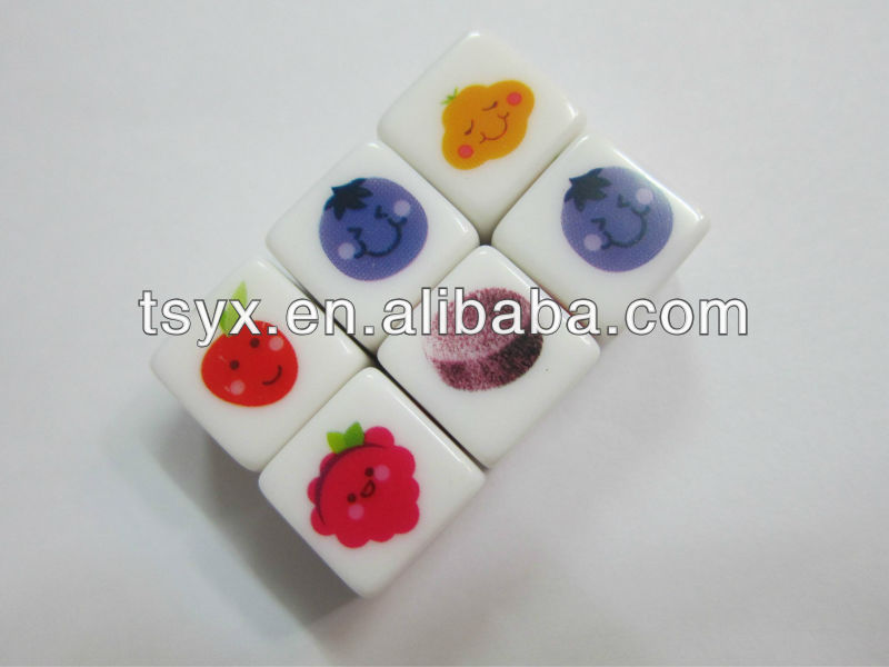 Color printing dice