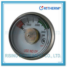 UL listed Medical oxygen spiral tube pressure gauge