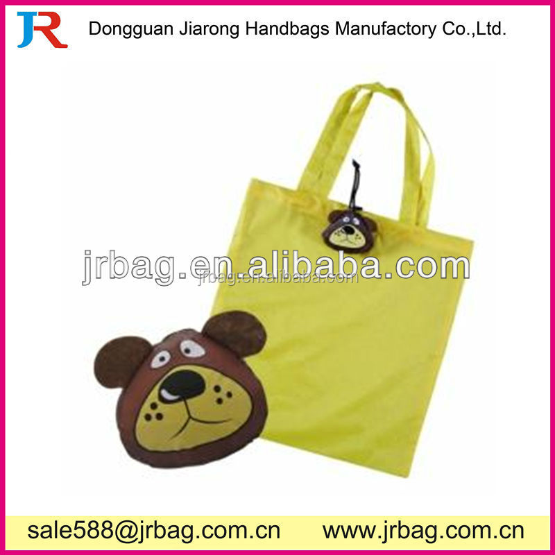 Cute Factory price Bear Foldable Tote Bags&Animal Foldable Bags