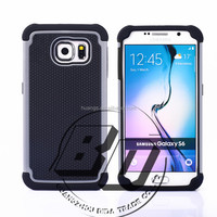 Top Selling Durable PC + Silicone+TPU Combo 3 in 1 combo football skin shockproof case For Samsung Galaxy S6 lowest price