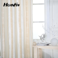china manufacturer sale strip design chain embroidery fabric curtain for living room