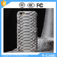 Best selling High Quality Genuine Python Snakeskin Leather mobile phone Case, Chinese cell cover for iPhone 6