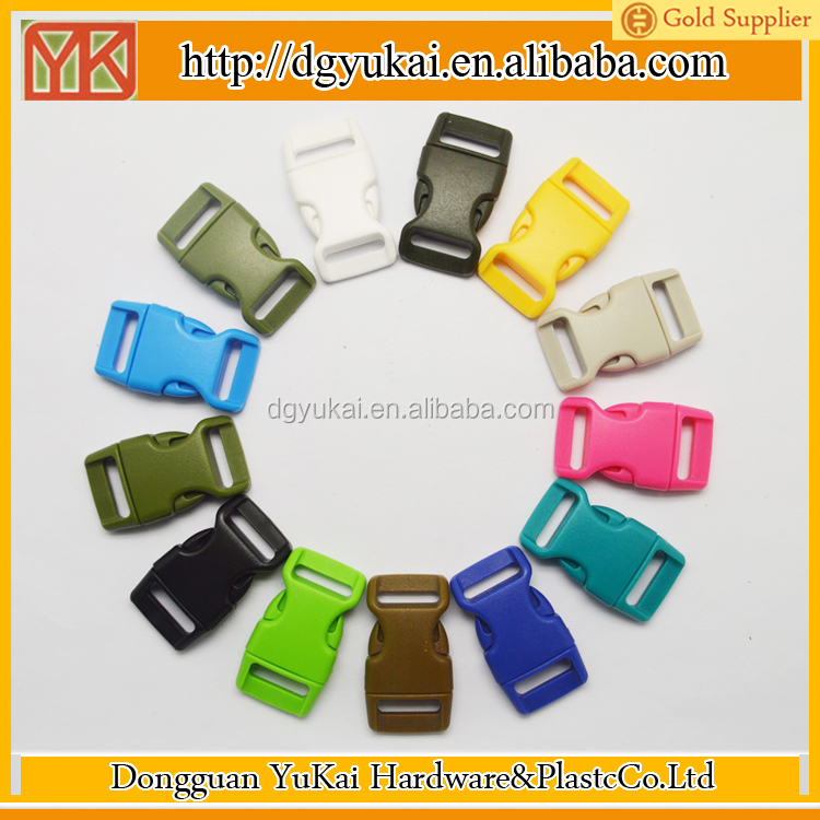 Yukai plastic rope buckle/plastic pet collar breakaway buckle/plastic curved buckle