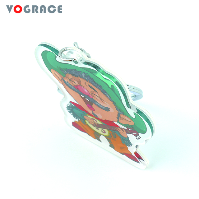 Pretty Colourful Cute Frog Metal Keyring