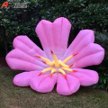3m Inflatable Pink Flower for Outdoor Yard Decorative