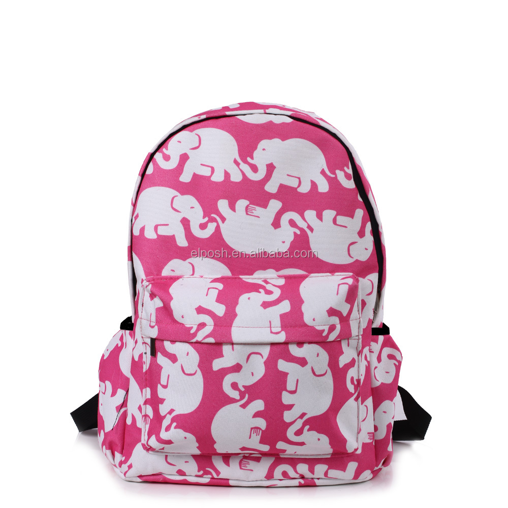 Personalized Floral Printing Backpack School Bag