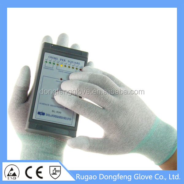 Promotion 13 Gauge Antistatic Gloves For Electrical Hand Protection