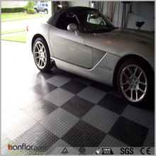 Garage use pvc interlocking tile flooring