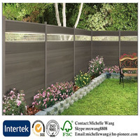 Easy install top quality WPC wood fence, Garden Fancing
