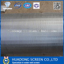 Supplying Stainless Steel Well Screen Sieve Tube/Johnson Screen For Dewatering