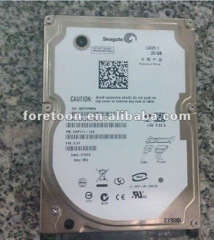 "2.5""SATA Seagate 20G Hard disk with Three Years warranty"