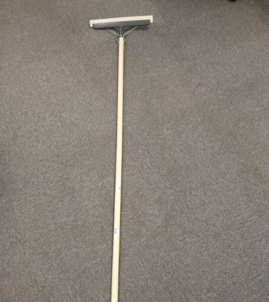 floor squeegee with white rubber blade poplar wood handle  Squeegee for Shower Doors, Bathroom, Window and Car Glass