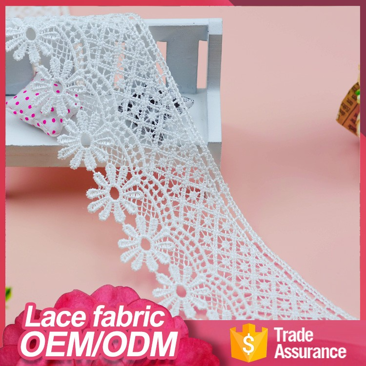 3D flower textile embroidery decoratives latest style african indian bridal fabric dry george lace