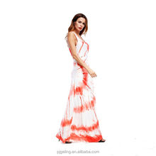muslim women xxx photos summer red printing maxi sexy sundress