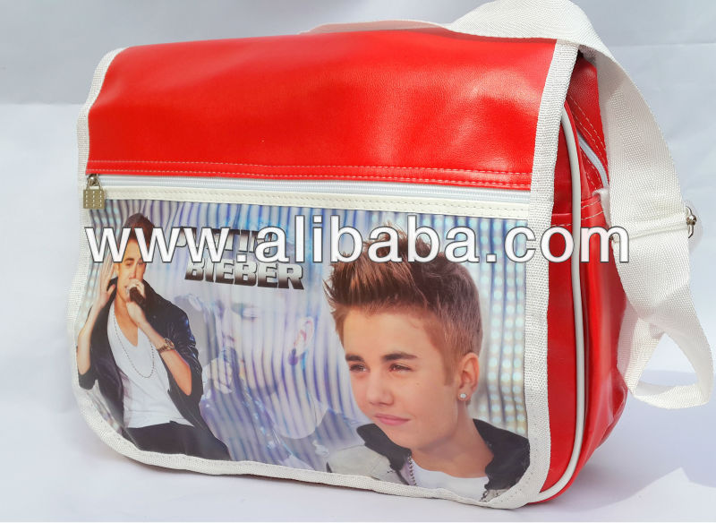 JUSTIN BIEBER Shoulder Messenger Gym Sport School College Bag a19