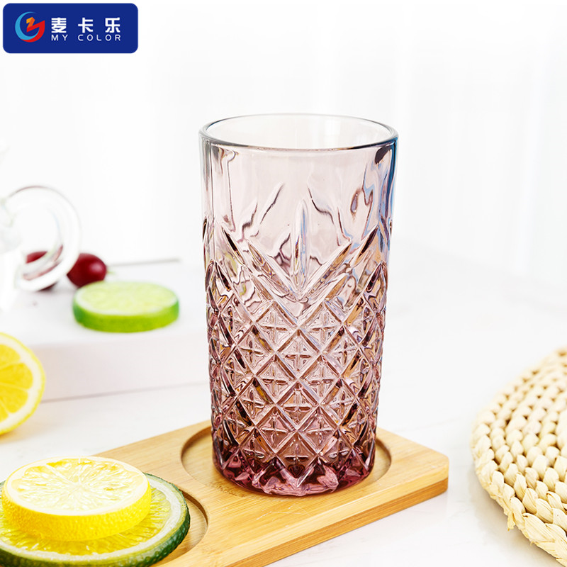 High - grade beverage cup / juice glasses ,colour embossed straight body
