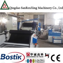 Shoes ventilation forming clothes material net transfer coating laminating machine