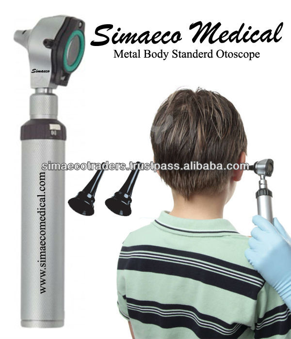 Metal body standard otoscope for hearing health