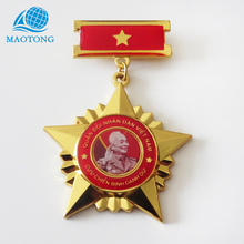 China factory promotional logo printed enamel sublimation medal metal souvenir badges custom gold lapel pin