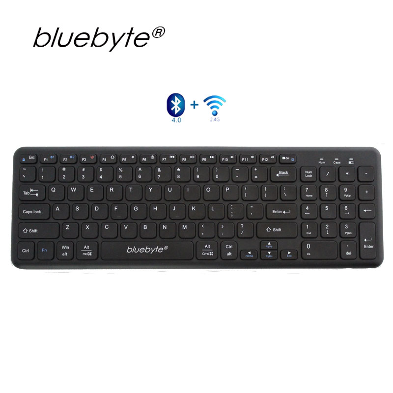 game leisure office keyboard CE Rohs Bluetooth 2.4G wireless keyboard Portable Keyboard For iPAD Air &Pro/iPHONE X/ 7/PC