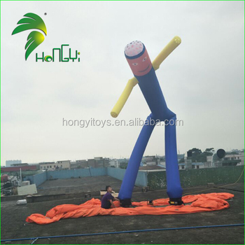 10m Huge Two Legs Inflatable Air Dancer , Tube Man Inflatable Sky Puppet For Events