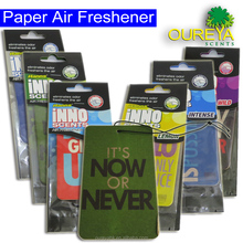 fresh smell lemon flavour fragrance car aromatic hanging paper air freshener